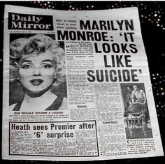 Marilyn Monroe (born Norma Jeane Mortenson; June 1, 1926 – August 5, 1962) was an American actress, model, and singer, who became a major sex symbol