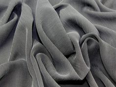 Grey Soft Drapey 'Linen Look' Polyester Clearance Dress Fabric - per metre Preview