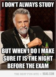 Tonight, studying for midterms!