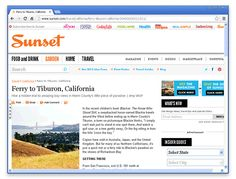 San Francisco Day Trips: Sunset Magazine Suggests Tiburon