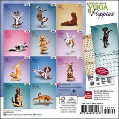 Yoga Puppies 2014 Small Wall Calendar