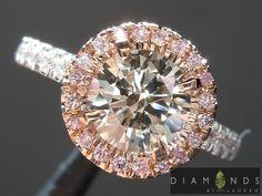 1.09ct S-T Light Brown, SI1 Round Brilliant Diamond Halo Ring GIA $4,099 #propose #engagement #DiamondRing #BridalRing #Ring #coloreddiamondring #diamondegagementring #gift #love #customjewelry #luxury #handmade #diamondjewelry #weddingring #pinkdiamondring #diamondhaloring #browndiamond #gorgeous #awesome #luxuryjewelry #fancycoloreddiamondring