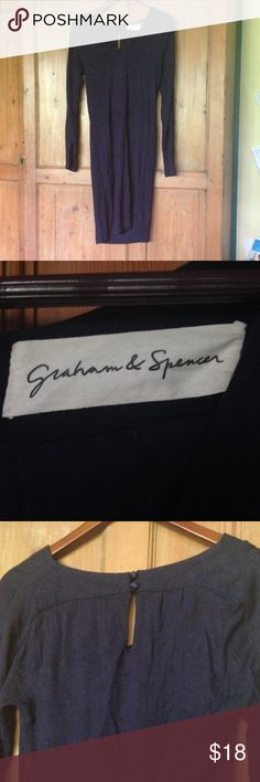 Graham and Spencer navy dress Thick stretch fabric, keyhole back detail. Midi length. Graham & Spencer Dresses Midi