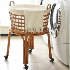 Cottage Home Interior Rolling Wicker Laundry Basket.Cottage Home Interior Rolling Wicker Laundry Basket Canvas Laundry Hamper, Wicker Laundry Hamper, Laundry Cart, Laundry Sorter, Laundry Room Storage, Wicker Baskets, Laundry Baskets, Rolling Laundry Basket, Laundry Basket On Wheels
