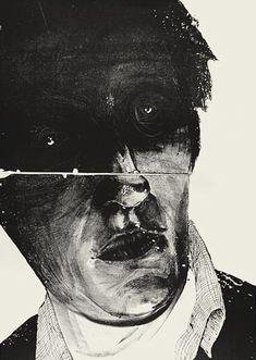 """Head / Patryk Hardziej / Lithograph / edition of 6 / 2013 Art And Illustration, Illustrations, Arte Horror, Horror Art, Creation Art, Creepy Art, Art Graphique, Art Sketchbook, Dark Art"