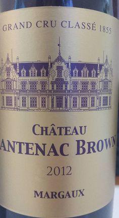 Vin du jour // Wine of the day: Château Cantenac Brown 2012 – 3ème Grand Cru Classé à Margaux (16.75/20) http://vertdevin.com/vin/chateau-cantenac-brown-2012-3eme-grand-cru-classe-a-margaux/