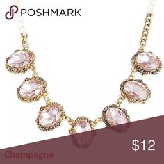 Pink crystal necklace Necklace Jewelry Necklaces