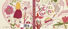 The Secret Garden, full jacket.  Penguin Threads, 2011.  Hand embroidered cover design by Jillian Tamaki.