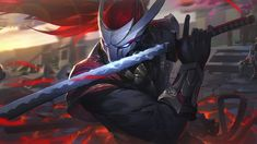 Blood Moon Yasuo, League of Legends, LoL, Video Game, wallpaper Lol League Of Legends, League Of Legends Boards, League Of Legends Yasuo, Champions League Of Legends, League Of Legends Characters, Best Trap, Ninja Art, Black Panther Marvel, Blood Moon