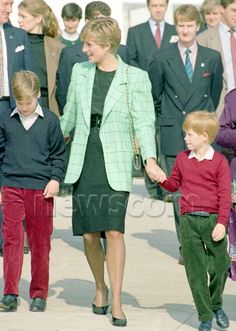 Diana Princess of Wales, Prince  William and Prince Harry
