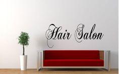 "Hair Salon 15""H x 36""W Vinyl Wall Decal-Beauty Salon Shop Wall Decal Lettering-Wall Art-Wall Decor"
