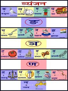 Hindi colors hindi color chart hindi vyanjan chart ccuart Gallery