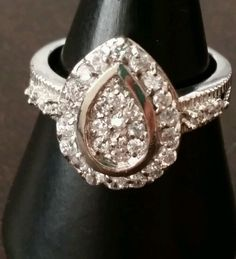 Vintage Ring,White Cubic Zirconia Stones,Gold Plated ,Ring Size 8 in Clothing, Shoes & Accessories | eBay.Only 5.90$