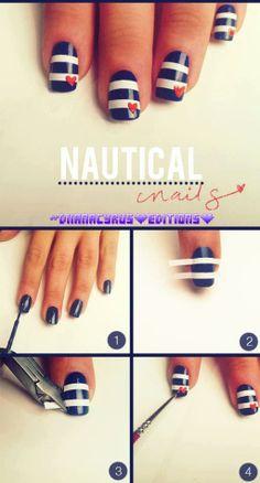 .nails nail art  july 4th