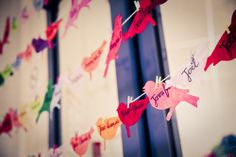 Birdy bunting - every guest signs their name