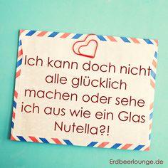 Glas #Nutella #Glücklich