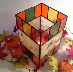 Hey, I found this really awesome Etsy listing at https://www.etsy.com/listing/251133983/new-autumn-colors-stained-glass-candle