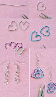 Easy methods to make beautiful jewelry and to look very beautiful and charming. Cute Jewelry, Beaded Jewelry, Funky Jewelry, Recycled Jewelry, Hippie Jewelry, Jewellery, Wire Crafts, Jewelry Crafts, Accesorios Casual