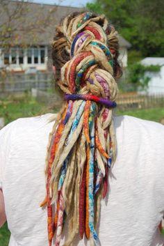 yum. colorful #dreads #braid