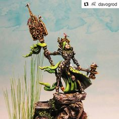 """""""The quality of the sclupt is mind-blowing."""" How do you like this Sol Sarya? Model available later - ragingheroes Miniature Figurines, Mind Blown, The Magicians, Rage, Battle, Witch, Miniatures, Crusaders, Darkness"""