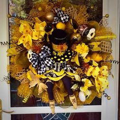 Queen Bee Wreath by WreathsEtc on Etsy