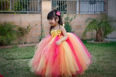 Fruiti Rainbow Flower Girl Tutu Dress. Bells would love this! Mom to do for her
