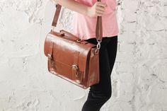 brown leather messenger bag  leather satchel handmade leather bag leather shoulder bag (59.00 USD) by Lemum