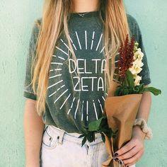 Shirts are a great way to take cute pics and still rep KD! Delta Zeta Shirts, Delta Phi Epsilon, Alpha Sigma Alpha, Sorority Shirt Designs, Sorority Shirts, Dance Shirts, Shirt Ideas, Greek, College