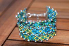 Bracelet brésilien vert modèle Caraibes : Bracelet par purple-art