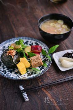 「おにぎり卵焼き味噌汁」 - 花ヲツマミニ