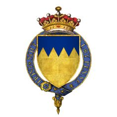 Arms of Sir Thomas Boleyn, 1st Earl of Wiltshire and Ormond,  father of Anne Boleyn, the second wife of Henry VIII of England. He was thus the maternal grandfather of Queen Elizabeth I.