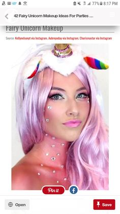Look coming up soon on on IG Unicorn Makeup, Makeup Inspo, Costume, Costumes, Fancy Dress, Costume Dress