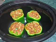 Cup of Judy: Crockpot Quinoa and Ground Turkey Stuffed Peppers. someone make this for me...