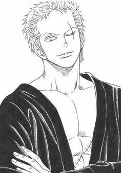 Roronoa Zoro, One Piece Zeichnung, Anime Lineart, One Piece Drawing, Zoro One Piece, Manga Anime One Piece, One Piece Images, Nico Robin, Anime Sketch