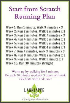 nice Start from Scratch Running Plan | Lagniappe Fitness