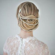 Wedding hairstyle. Peinado de novia