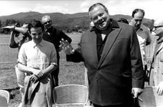 François Truffaut and Orson Welles at the 1966 Cannes Film Festival