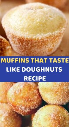 MUFFINS THAT TASTE LIKE DOUGHNUTS RECIPE What you need: cup sugar 1 large egg 1 cups all-purpose flour 2 tsp baking power tsp salt tsp ground nutmeg cup vegetable oil cup milk 1 tsp vanilla extract 2 Tbsp butter, melted Just Desserts, Delicious Desserts, Dessert Recipes, Yummy Food, Muffin Tin Recipes, Donut Recipes, Coffecake Recipes, Kids Baking Recipes, Baking For Kids
