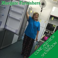 Jenny Adendorff shows off our impressive #showroom! Massive storage space in this #fridge #freezer-See for yourself!