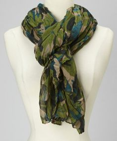Another great find on #zulily! Green Camo Scarf #zulilyfinds