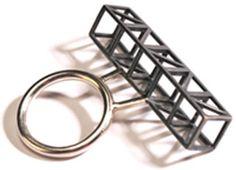 Emma MacLeod Frame ring - geometric jewellery design