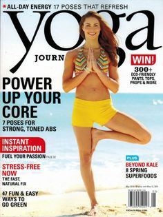 Our Lucia Shorts are on the April cover of Yoga Journal!