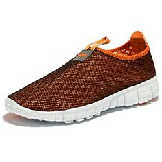 EVILDOER Men and Women's Breathable Mesh Running Sneakers Outdoosr Slip-on Beach Aqua Shoes * Special product just for you. Trail Running Shoes, Running Sneakers, Road Running, Tall Men Fashion, Men's Fashion, Aqua Shoes, Women's Shoes, Top Clothing Brands, Water Shoes