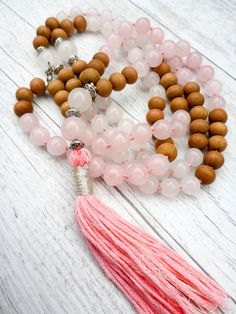 Pin It! The Boho Babe Mala - Sandalwood, Rose Quartz and White Jade Mala Kamala Mala Beads - Boho Malas, Mala Beads, Mala Necklaces and Bracelets, Childrens Malas, Bohemian Jewelry and Baby Necklaces