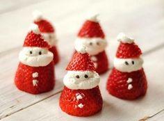 Yılbaşına Özel Çilekten Noel Baba Tarifi