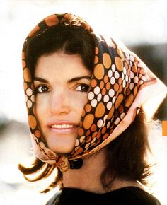 She has always reminded me of my mom. My mom has blue eys but her style has always been classy like her. jackie o. love that vintage scarf!