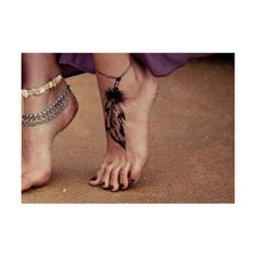 Feather anklet...