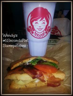 #6SecondsFlat with Wendy's Flatbread Sandwiches