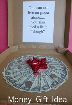 Money Gift Idea – fun gift idea for graduation, birthday or anytime!or for … Money Gift Idea – fun gift idea for graduation, birthday or anytime!or for when someone is getting their first apartment. Homemade Gifts, Diy Gifts, Creative Gifts, Unique Gifts, Don D'argent, Cute Gifts, Best Gifts, Funny Gifts, Teen Girl Gifts