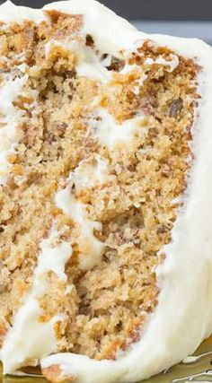Old Fashioned Banana Layer Cake recipe with Cream Cheese Frosting Best Cake Recipes, Banana Recipes, Sweet Recipes, Cookie Recipes, Dessert Recipes, Yummy Recipes, Crockpot Recipes, Desserts, Sweets